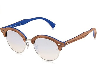 Ray-Ban Clubhouse Round Wood Sunglasses