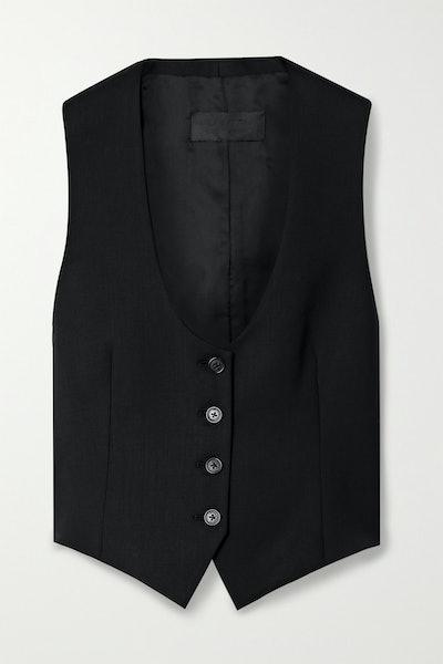 Colin Wool-Blend Twill Vest