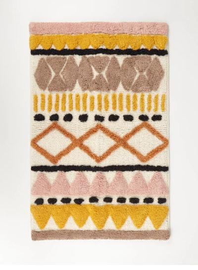 Discovery Textured Geometric Cotton Bath Mat