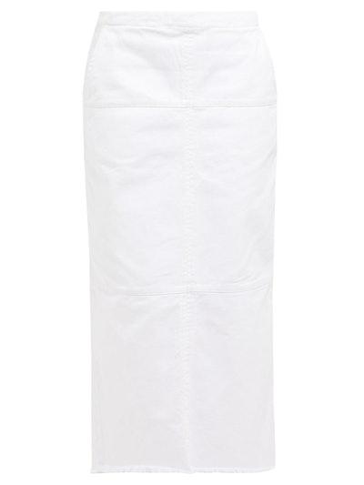 Panelled Denim Midi Skirt