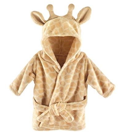 Hudson Baby Unisex Baby Plush Animal Face Robe (Giraffe)