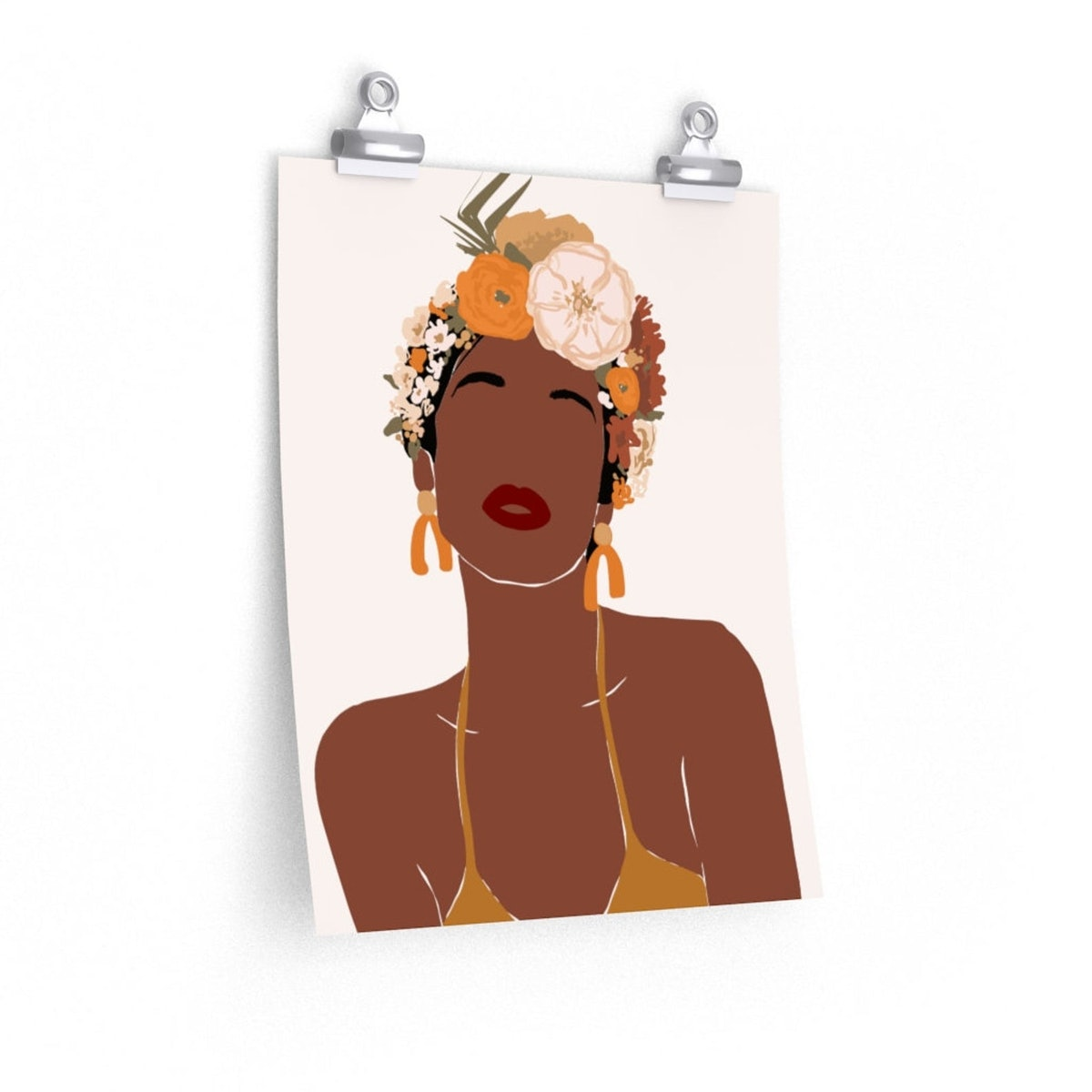 Black Woman with Flower Crown