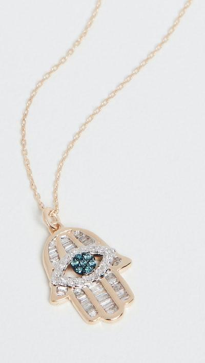 Adina Reyter 14K Baguette Hamsa Necklace