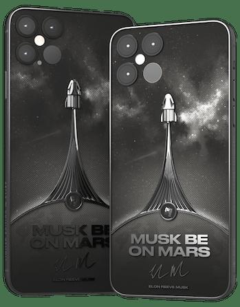 Elon Musk-themed iPhone 12.