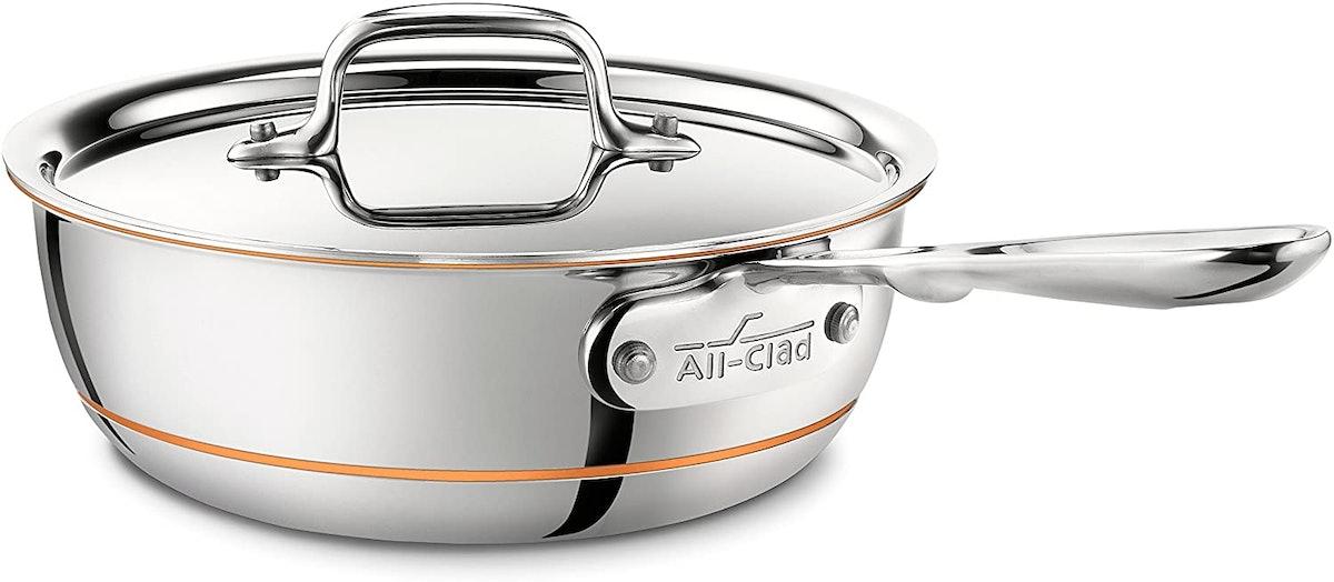 All-Clad Copper Core Stainless Steel Saucier Pan (2 quart)