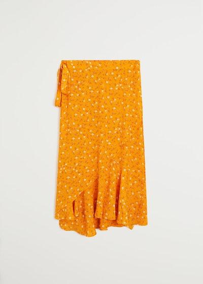 Wrap Print Sarong Skirt