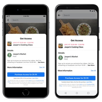 Facebook has launched paid events for small businesses.