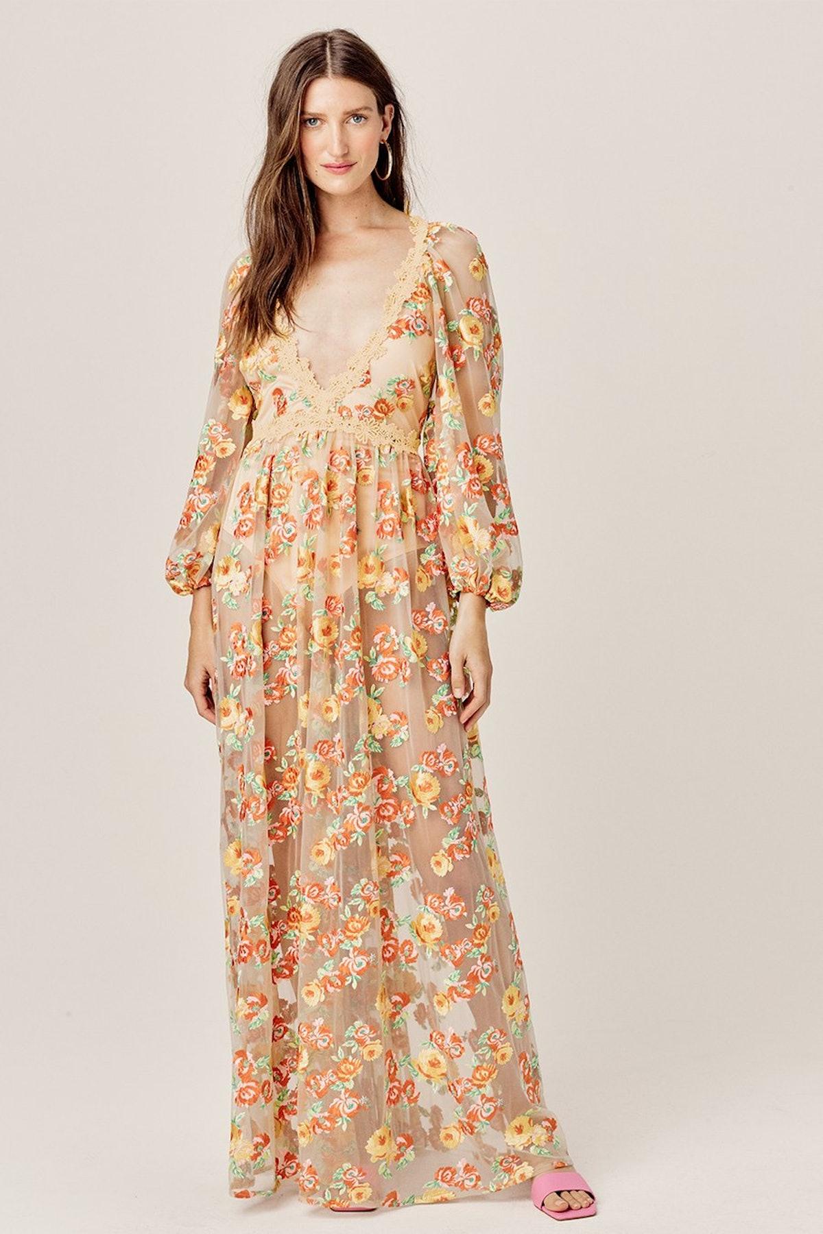 Winnie Embroidered Maxi Dress