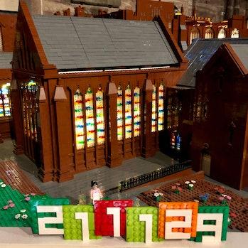 Chester Cathedral LEGO replica in progress