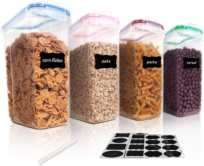 Vtopmart Cereal Storage Container Set (4-Pack)