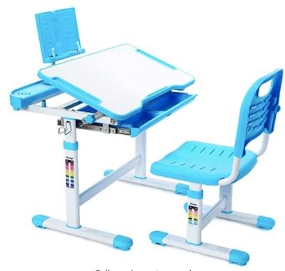 Soft Secco Child's Desk W/Lamp with Tilt Desktop