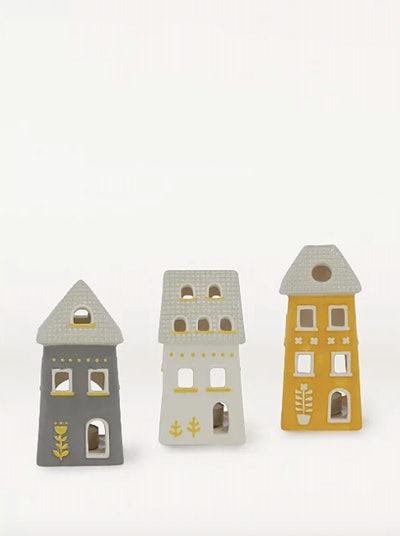 House Shaped Tealight Holders 3 Pack
