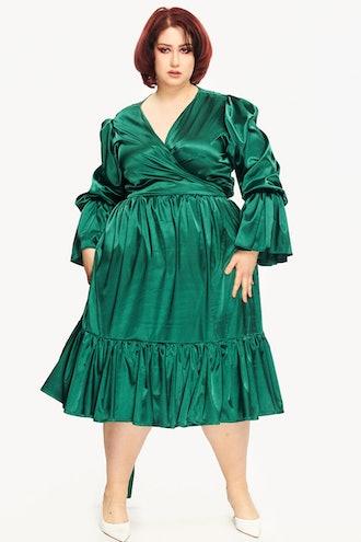Gabrielle Dress Midi Green