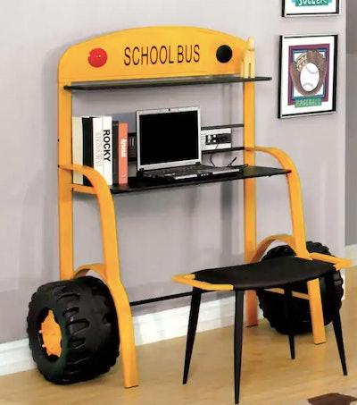Furniture of America School Bus Child Desk - Yellow