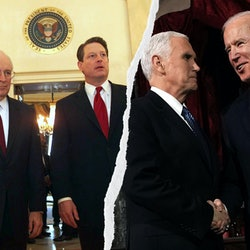 Vice Presidents Cheney, Gore, Pence, and Biden
