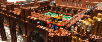 LEGO replica of Chester Cathedral, construction