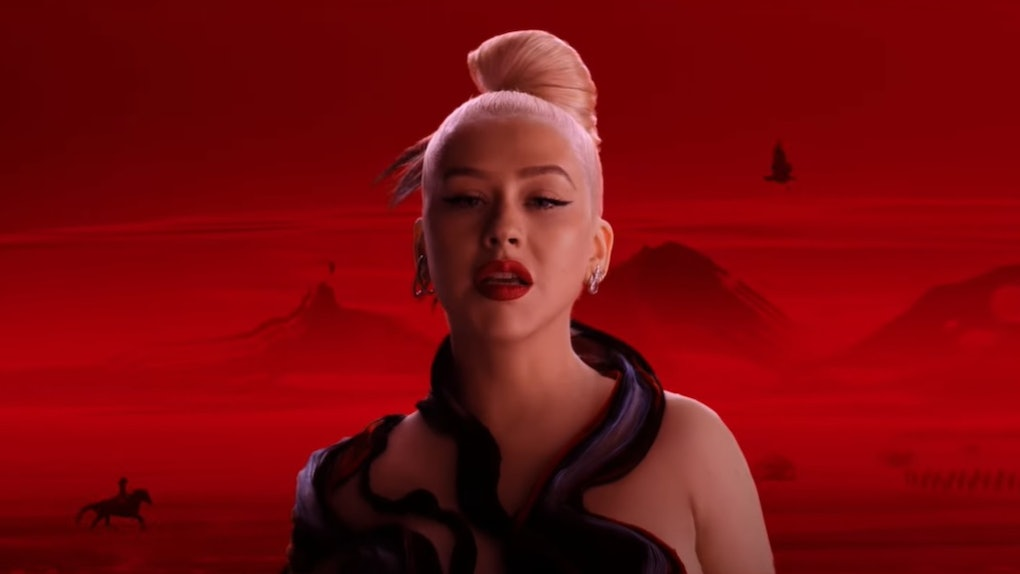"Christina Aguilera's ""Loyal Brave True"" music video from 'Mulan' is out on YouTube now."