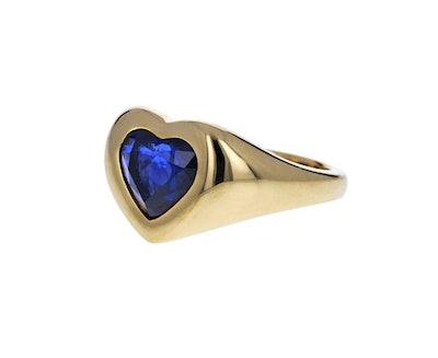 Brent Neale Blue Sapphire Gypsy Heart Ring