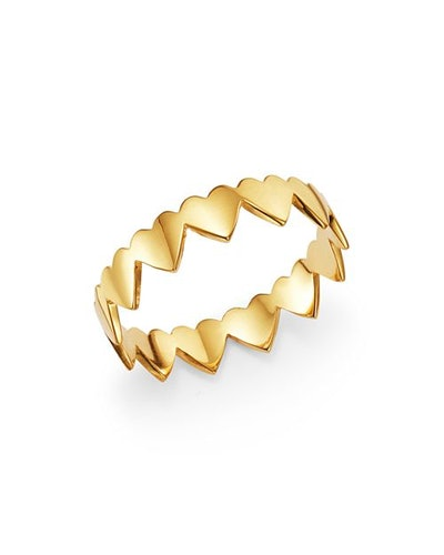 Zoë Chicco 14K Yellow Gold Eternity Heart Ring