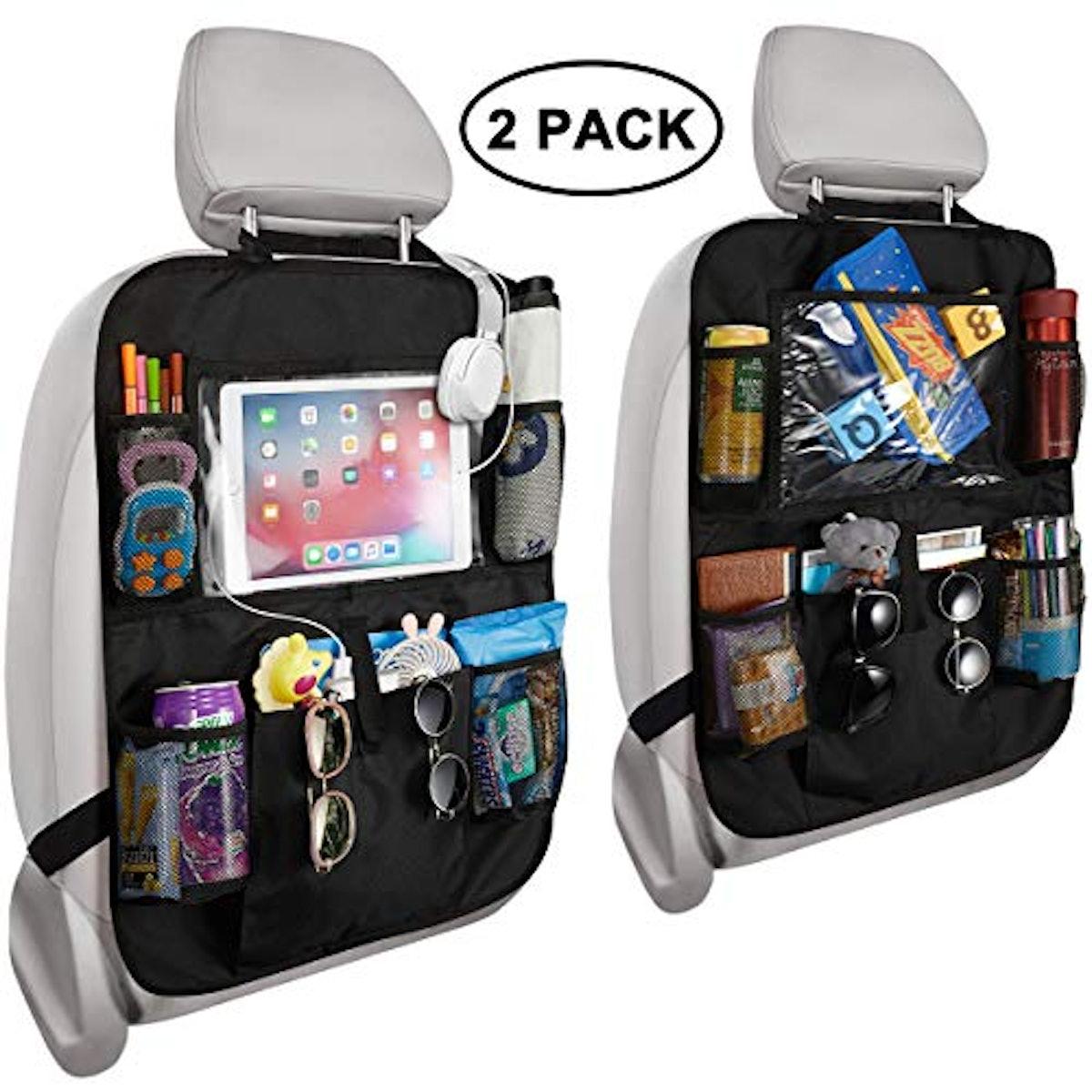 Reserwa Car Backseat Organizer 2 Pack Waterproof and Durable
