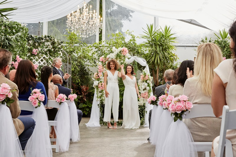 Hallmark Channel just aired its first LGBTQ+ wedding.