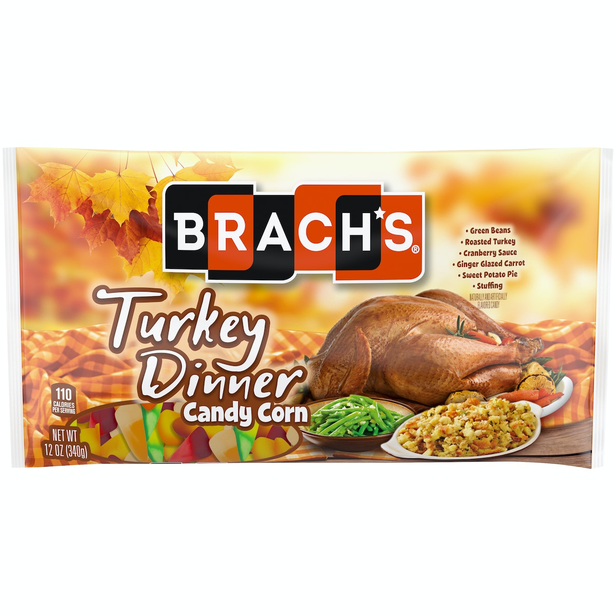 Brach's Turkey Dinner Candy Corn includes flavors like green beans and sweet potato pie.