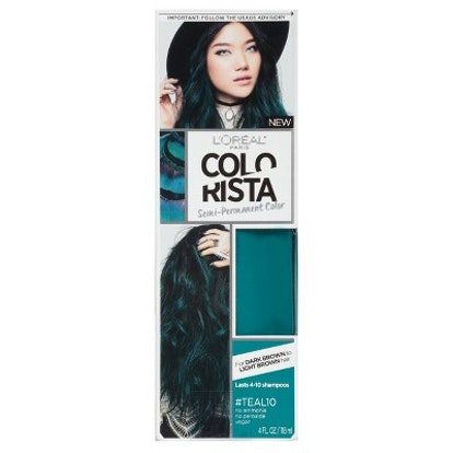 Colorista Semi-Permanent Hair Color For Brunette Hair in Teal 20