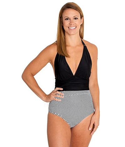 Movemama Nursing One Piece Halter Swimsuit