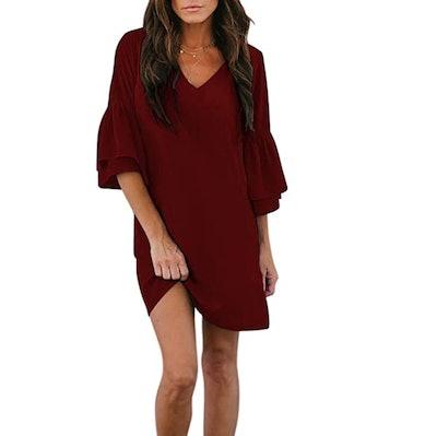 BELONGSCI  V-Neck Bell Women's Dress