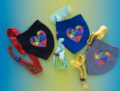 Rainbow Heart Cloth Face Mask