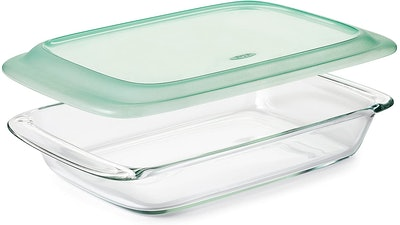 OXO Good Grips Freezer-to-Oven Safe 3 Qt Glass Baking Dish with Lid