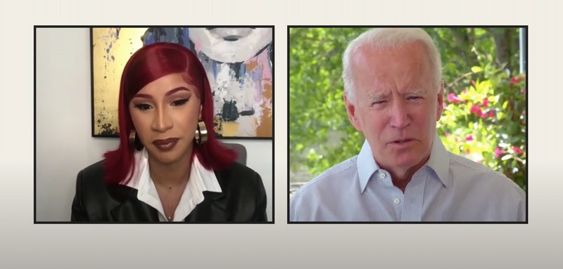 cardi b and joe biden talk about healthcare, covid-19, and police brutality