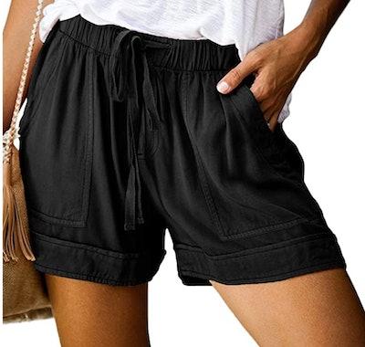 Elapsy Womens Casua Shorts