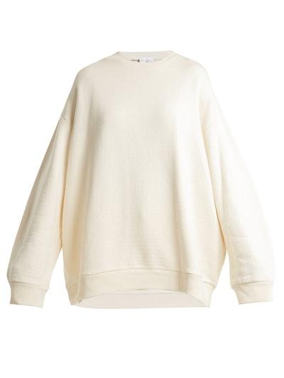 Crew-Neck Japanese-Jersey Sweatshirt