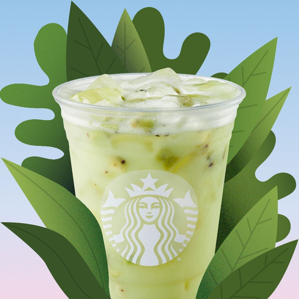 Starbucks' new Star Drink adds coconut milk to its Kiwi Starfruit Refresher.