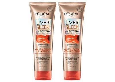 L'Oréal Paris Hair Care EverSleek Keratin Caring Sulfate Free Shampoo & Conditioner Kit