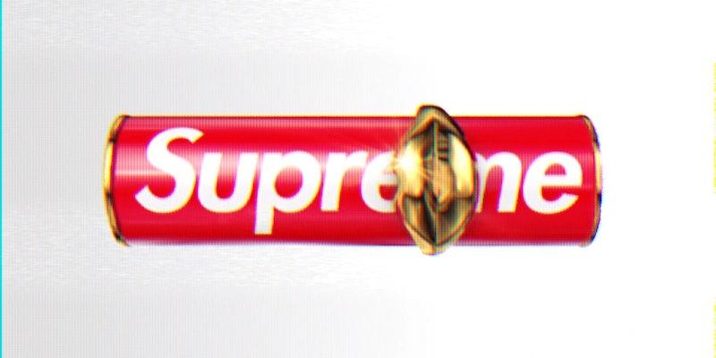 MatteTrance Lipstick in Supreme from Supreme x Pat McGrath Labs collab.