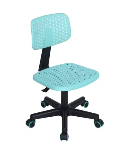 Porch & Den Neakahnie Brightly Colored Student Task Chair in Turquoise