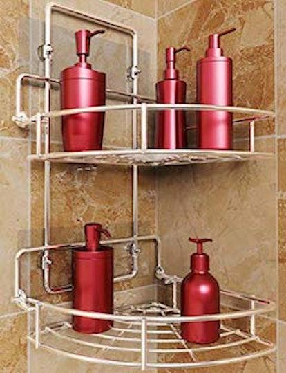 Vdomus Strong Shower Caddy 2 Tier Bathroom Corner Shelf Organizer
