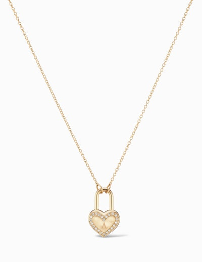 Diamond Edge Heart Lock