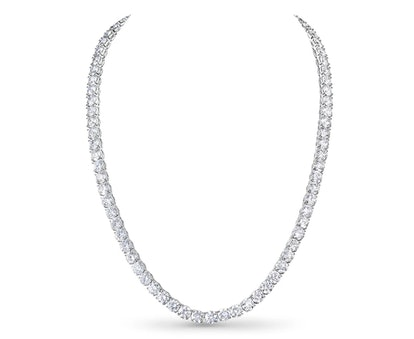 Line Necklace in 18K White Gold