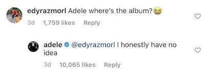 Adele album update