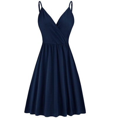 STYLEWORD Women's Casual Swing Dress with Pocket