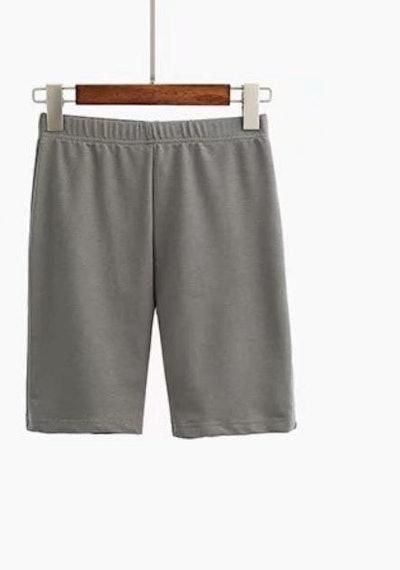 Gray Leisure Biker Shorts
