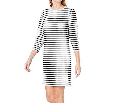 Amazon Essentials Women's Crewneck Above-the-Knee Dress