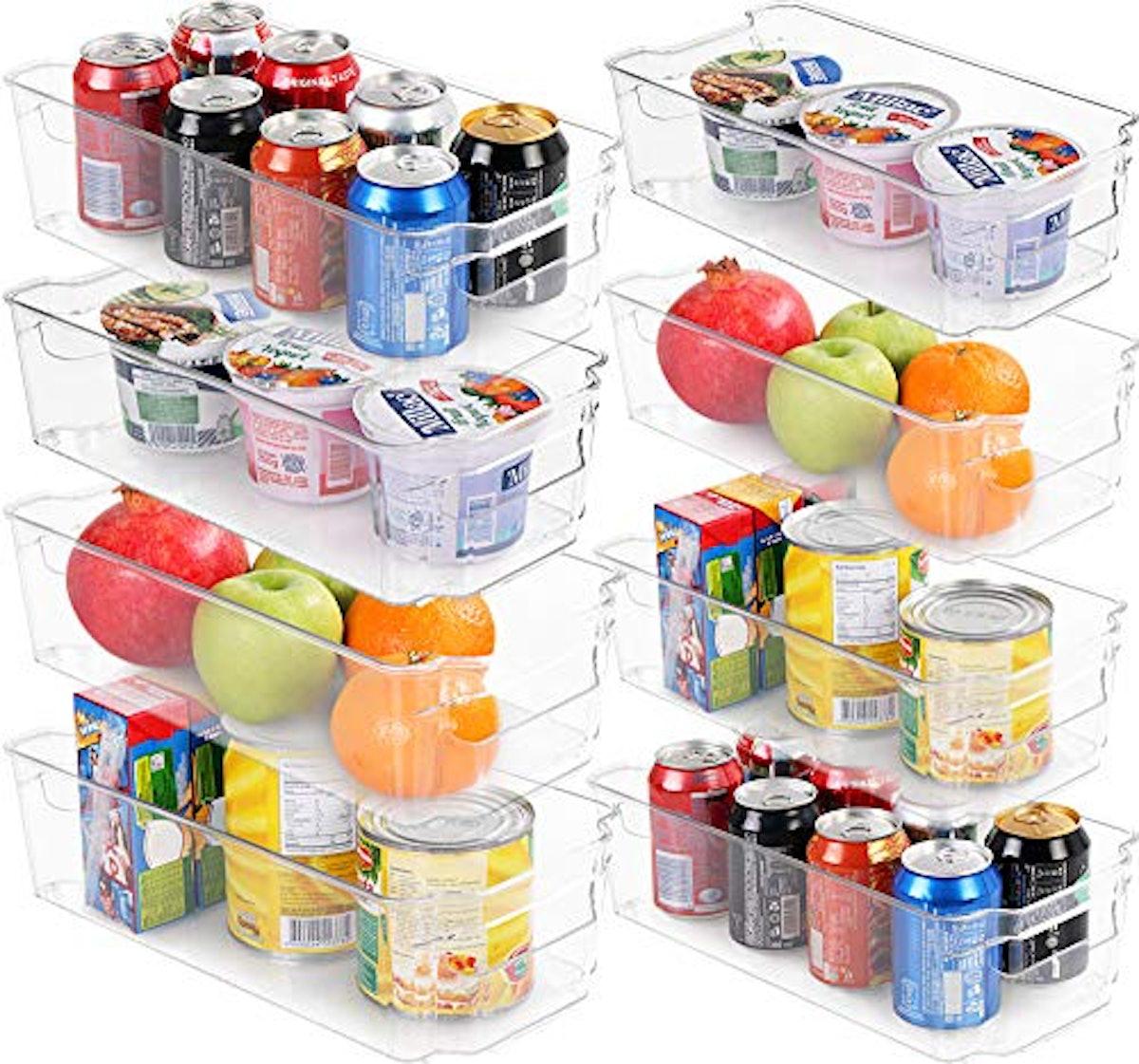 Set of 8 Refrigerator Pantry Organizer