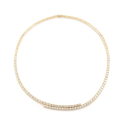 Modern Deco Diamond Choker