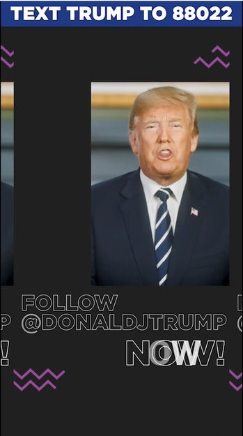 President Trump has created an official account on Triller.