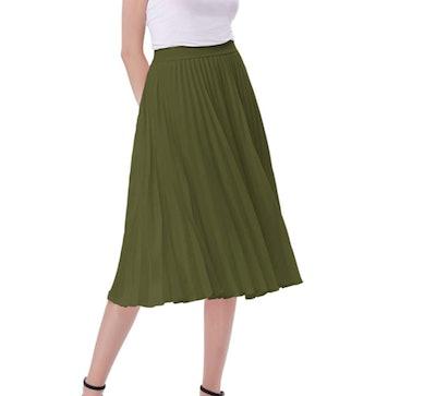 Kate Kasin Women's High Waist Swing Skirt