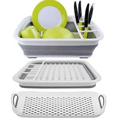 Collapsible Drying Dish Storage Rack
